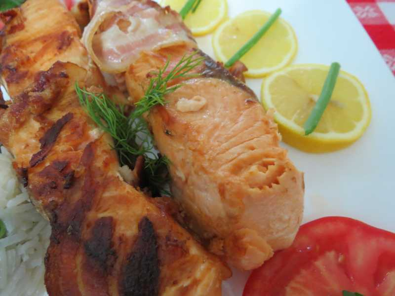 Bacon wrapped fish fillets multi cooker in dubai price for Bacon wrapped fish